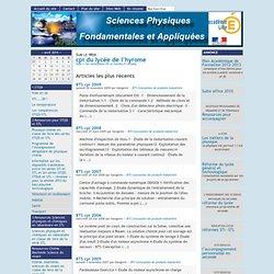 [Sciences Physiques Fondamentales et Appliquées] : Sur le Web