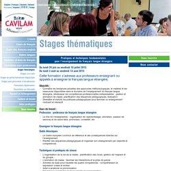 Pratiques et techniques fondamentales pour l'enseignement du français langue étrangère - CAVILAM