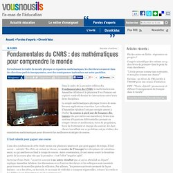 Fondamentales du CNRS : des mathématiques pour comprendre le monde