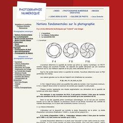 Principal numerique notions fondamentales sur la photographie