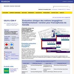 Évaluation clinique des notions langagières fondamentales®—version pour francophones du Canada