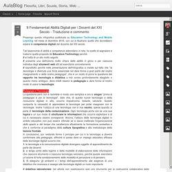 9 Fondamentali Abilità Digitali per i Docenti del XXI Secolo - Traduzione e commento
