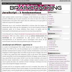 JavaScript : 3 fondamentaux