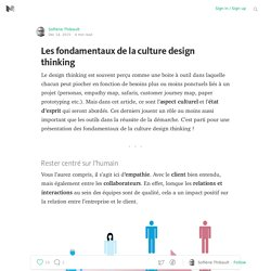 Les fondamentaux de la culture design thinking