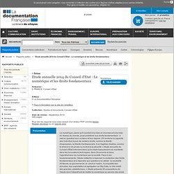 Etude annuelle 2014 du Conseil d'Etat - Le numérique et les droits fondamentaux