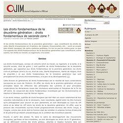 Les droits fondamentaux de la deuxième génération : droits fondamentaux de seconde zone ? - Journal Indépendant et Militant