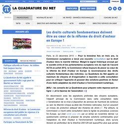Les droits culturels fondamentaux doivent être au cœur de la réforme du droit d'auteur en Europe !