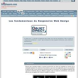 Les fondamentaux du Responsive Web Design