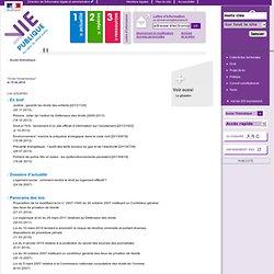 Droits fondamentaux, droit, libertés publiques - Accès thématique - vie-publique.fr
