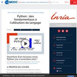 FUN - Python : des fondamentaux à l'utilisation du langage