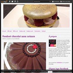 Fondant chocolat sans cuisson -