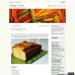 Cake fondant à l'orange