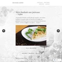 Tarte fondante aux poireaux – Vegan