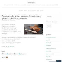 Fondants châtaigne amande (vegan, sans gluten, sans lait, sans œuf)
