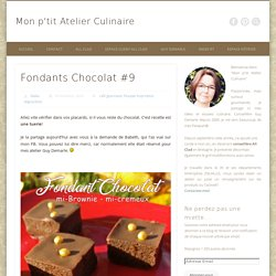 Fondants Chocolat
