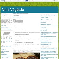 Fondants au chocolat - Mimi Végétale