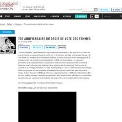 70e anniversaire du droit de vote des femmes - Fondapol
