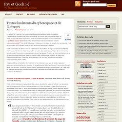 Textes fondateurs du cyberespace et de l'Internet