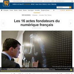 Les 16 actes fondateurs du numérique français