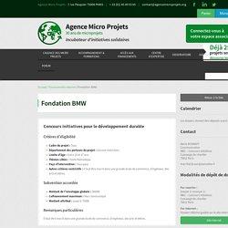 Fondation BMW - Agence Micro Projets