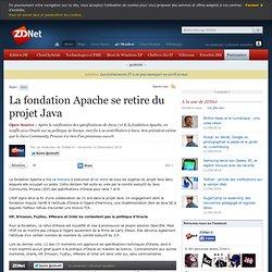 La fondation Apache se retire du projet Java