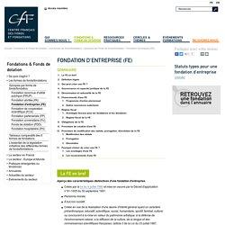 Fondation d'entreprise (FE)