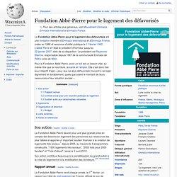 Fondation Abbé-Pierre pour le logement des défavorisés