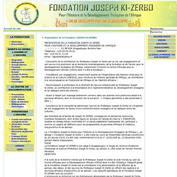 Fondation Joseph Ki Zerbo