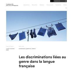 Fondation PHI - Les discriminations liées au genre dans la langue française