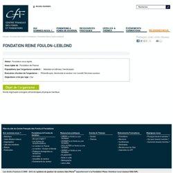 Fondation Reine Foulon-Leblond