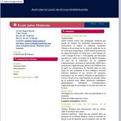 FONDATION POUR L'ECOLE - Annuaire en ligne des écoles indépendantes