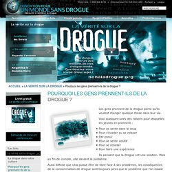 Site Web officiel de la Fondation pour un monde sans drogue : Informations gr...