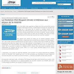 La Fondation PSA Peugeot Citroën s'intéresse aux enjeux de la mobilité