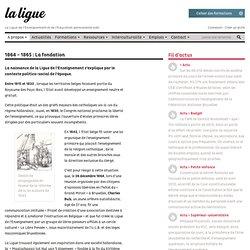 1864 fondation Ligue de l'Enseignement en Belgique