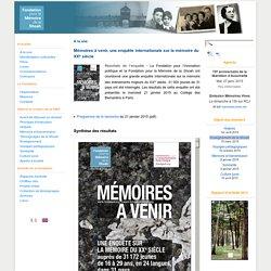 Enquete internationale sur la mémoire au XXe siècle