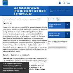 La Fondation Groupe Primonial lance son appel à projets 2020
