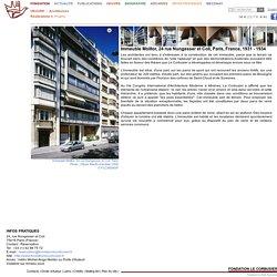 Fondation Le Corbusier - Réalisations - Immeuble Molitor, 24 rue Nungesser et Coli
