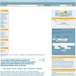 La Fondation BNP Paribas soutient la restauration du tableau Le