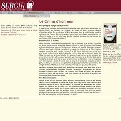 Fondation SURGIR – Crime d'honneur
