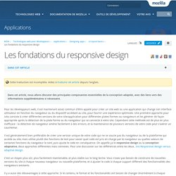 Les fondations du responsive design - Applications