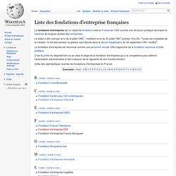 Liste des fondations d'entreprise françaises