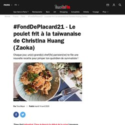 #FondDePlacard21 - Le poulet frit à la taïwanaise de Christina Huang (Zaoka)