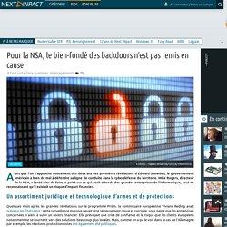 Pour la NSA, le bien-fondé des backdoors n'est pas remis en cause