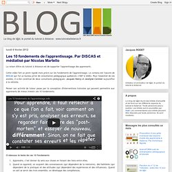 Les 10 fondements de l'apprentissage. Par DISCAS et médiatisé par Nicolas Martello