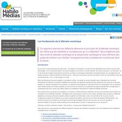 Les fondements de la littératie numérique