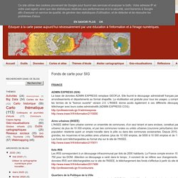 Cartographie numérique: Fonds de carte pour SIG