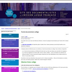 Fonds documentaire collège