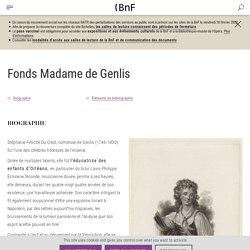 Fonds Madame de Genlis