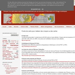 Cartographie numérique: Fonds de carte