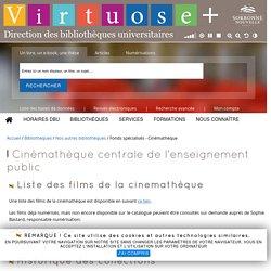 Fonds spécialisés - Cinémathèque